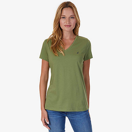 V-Neck Tee - Light Olive