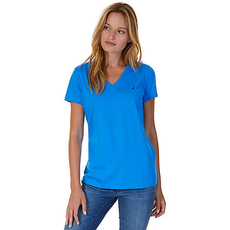 V-Neck Tee - Naval Blue