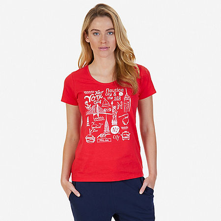 City Graphic Tee - Desert Rose