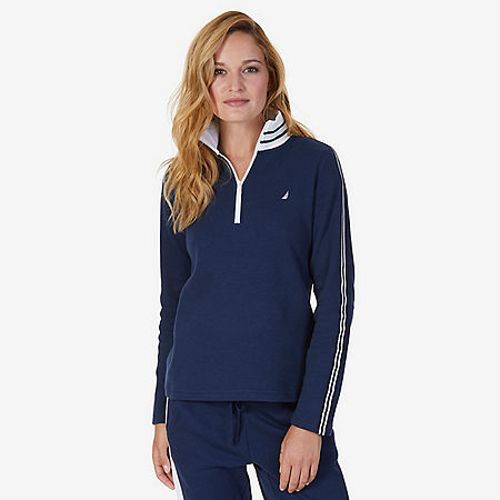 Quarter Zip Pullover - Dreamy Blue