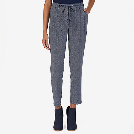 Pleated Belted Trouser - Dreamy Blue