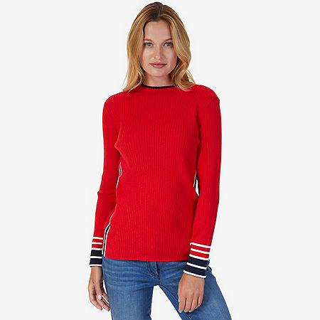 Ribbed Sweater - Tomales Red