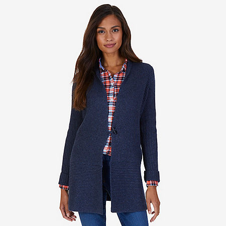 Cashmere Blend Cardigan - Blue Race