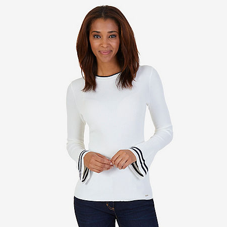 Bell Cuff Sweater - Marshmallow