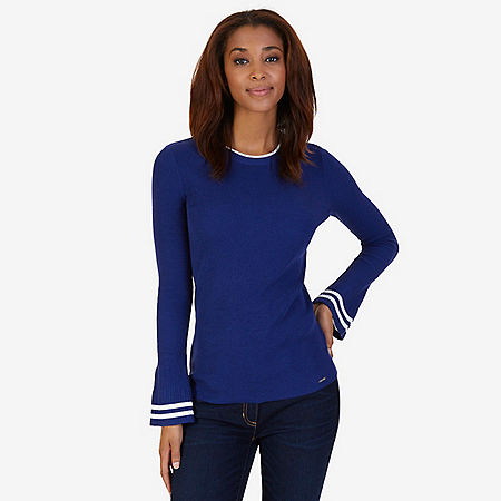 Bell Cuff Sweater - Navy