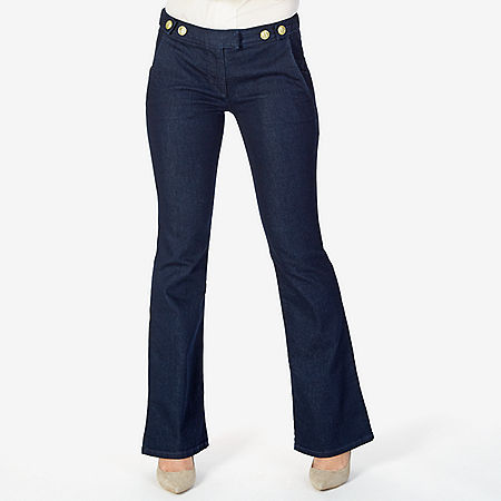 Boot Leg Denim Trouser - Blue Heather