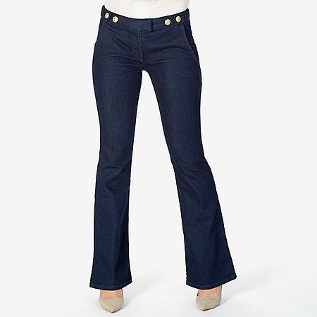 Boot Leg Denim Trouser - Blue Heather