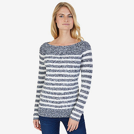 Cable Stripe Sweater - Dreamy Blue