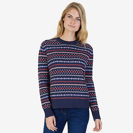 Classic Patterned Sweater - Dreamy Blue