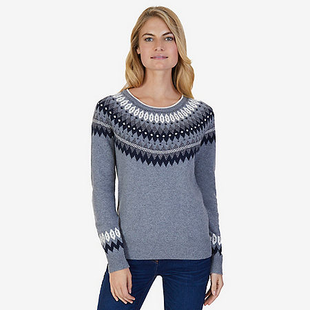 Nordic Fair Isle Sweater - Gunpowder