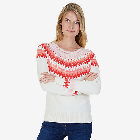 Nordic Fair Isle Sweater - Chalk