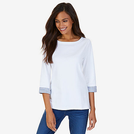 Turnback Cuff Top - Bright White