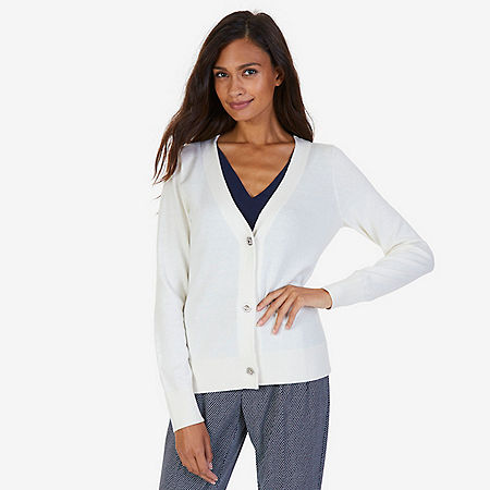 Essential Layering Cardigan - Chalk
