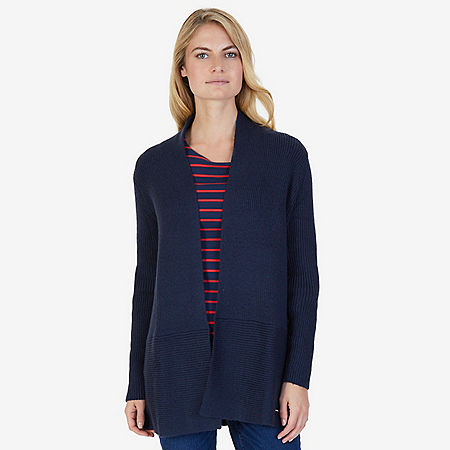 Long Ribbed Cardigan - Dreamy Blue