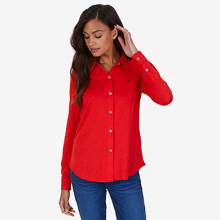 Button Down Perfect Shirt - Red