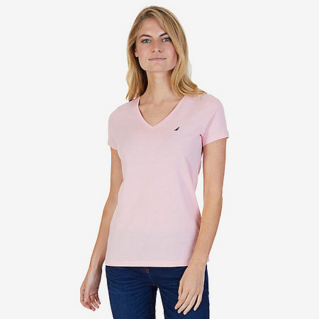 Solid V-Neck Tee - Edgartown Red