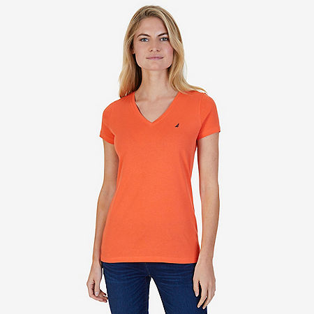 Solid V-Neck Tee - Icelantic Orange