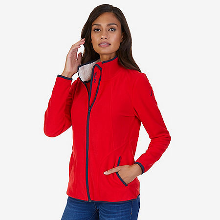 Sherpa Lined Nautex Fleece - Tomales Red