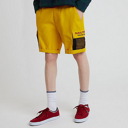 The Lil Yachty Collection by Nautica Longer Length Cargo Shorts - Shoreline Yellow