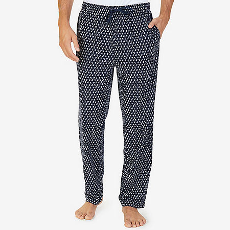 Cozy Fleece Anchor Paisley Pajama Pant - Navy