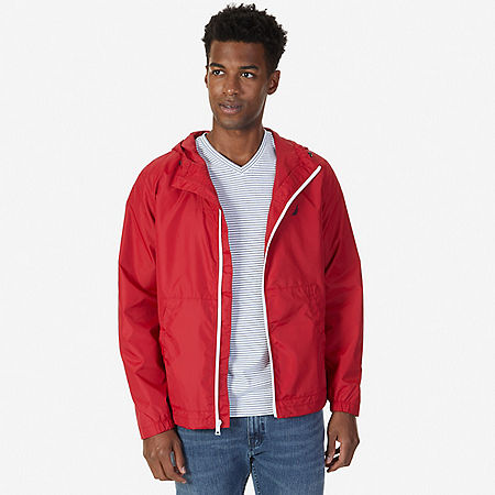Water Resistant Bomber Jacket - Nautica Red