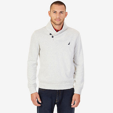 Nautica Shawl Collar Sweater - Oatmeal