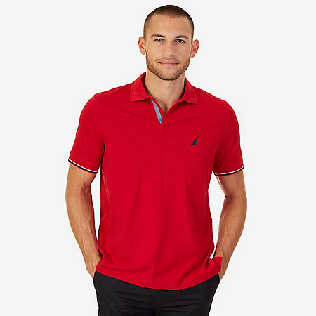 Nautica Classic Fit Polo Shirt - Nautica Red