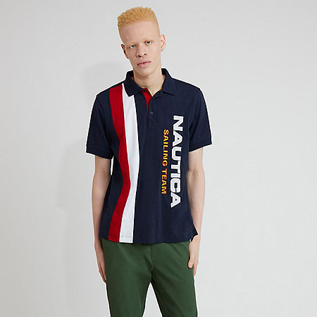 The Lil Yachty Collection by Nautica Color Block Polo Shirt - Navy