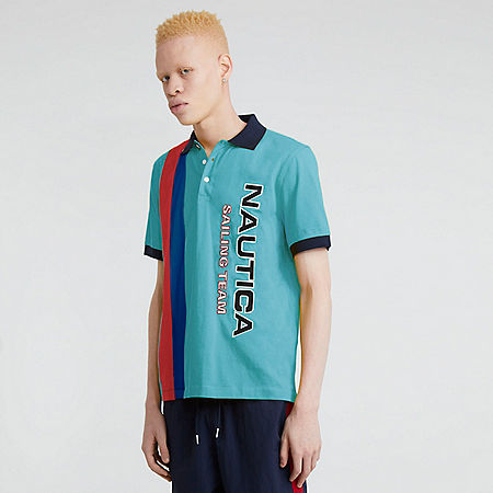 The Lil Yachty Collection by Nautica Color Block Polo Shirt - Sapphire