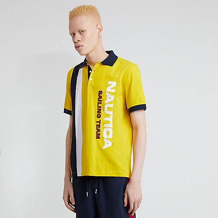 The Lil Yachty Collection by Nautica Color Block Polo Shirt - Shoreline Yellow