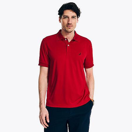 Tech Jersey Polo Shirt - Nautica Red