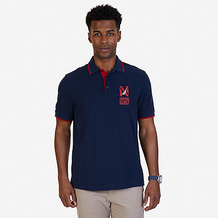 Classic Fit Signature Polo Shirt - Navy