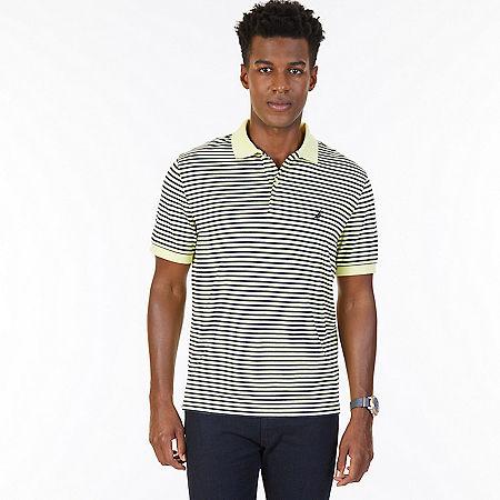 Classic Fit Striped Polo Shirt - Lemon Mist