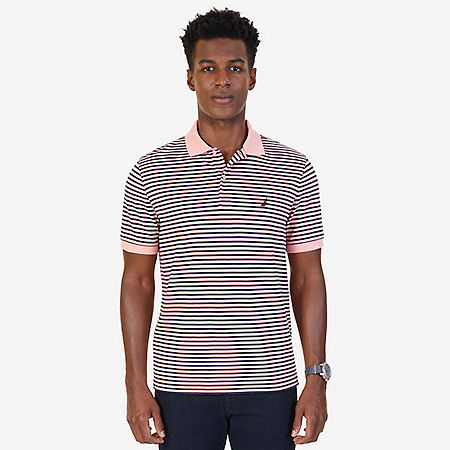 Classic Fit Striped Polo Shirt - Orange