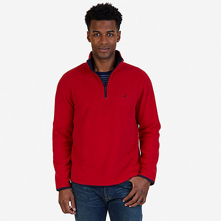 Quarter Zip Nautex Fleece - Nautica Red