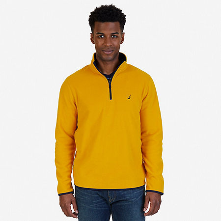 Quarter Zip Nautex Fleece - Yellow