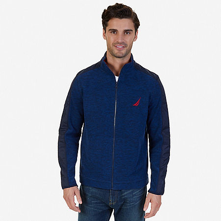 Zip-Front Fleece - Navy