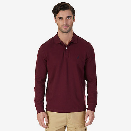 Classic Fit Long Sleeve Polo Shirt - undefined