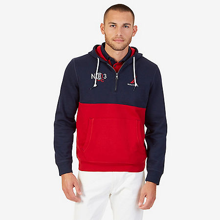 Quarter Zip Active Hoodie - Nautica Red