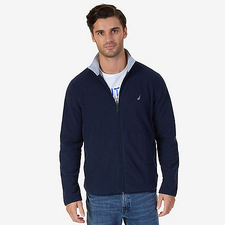 Nautex Fleece Zip Jacket - Navy