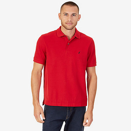 Classic Fit Stretch Polo Shirt - Nautica Red