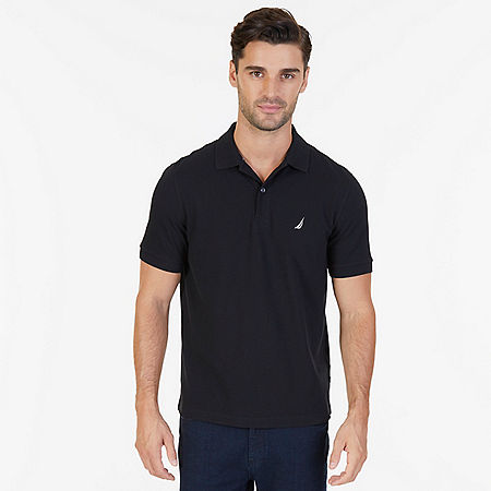Classic Fit Performance Polo Shirt - True Black