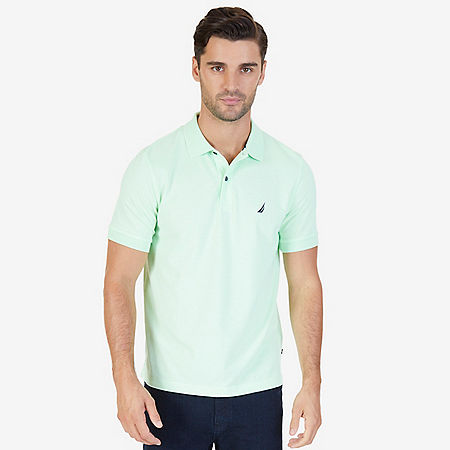 Classic Fit Cooling Performance Polo Shirt - Green Spruce
