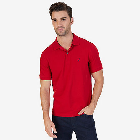Classic Fit Cooling Performance Polo Shirt - Nautica Red