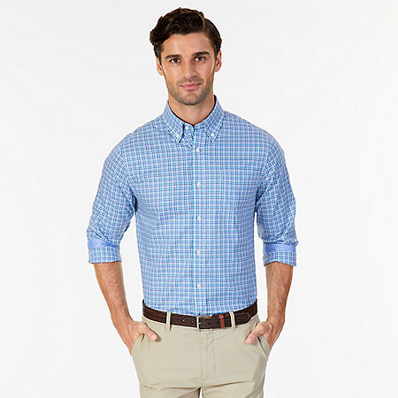 Wrinkle Resistant Classic Fit Tattersall Dress Shirt - Medallion Blue