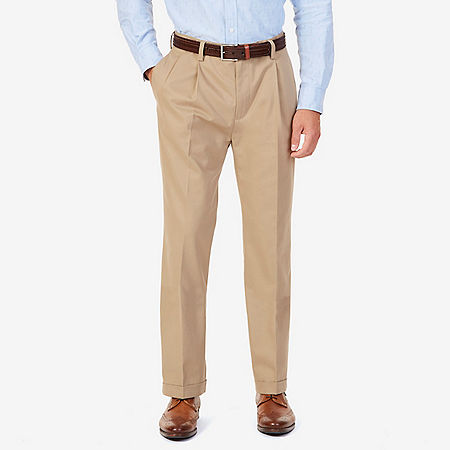 Wrinkle Resistant Double Pleat Pant - Earth/rope Khaki