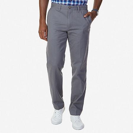 Flat Front Classic Fit Pants - Castlerock
