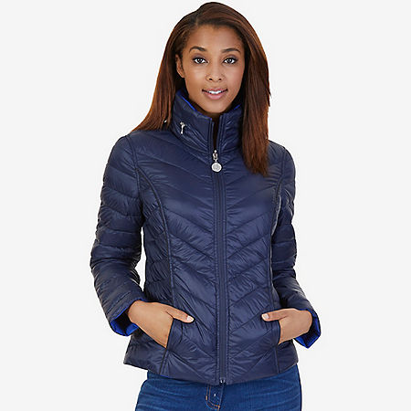Reversible Down Puffer Jacket - Dreamy Blue