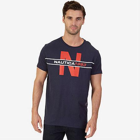 Nautica Big & Tall Nautica 1983 Heritage Graphic T-Shirt - Navy