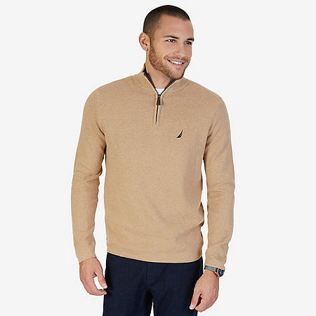 Quarter Zip Pullover Sweater - Espresso